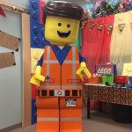 Lego Man Visits Cancer Foundation