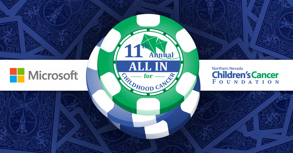 Poker Chips Graphic for Childhood Cancer