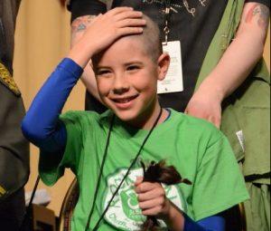 Shave head for Childhood Cancer