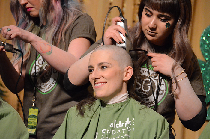 Woman Shaves at Reno Event