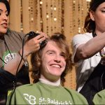 Shaves Red Hair for Cancer